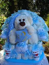 """Windeltorte""""Dreaming Bear und Babyset """"Geburt,Taufe,Geburtstag! blau"""
