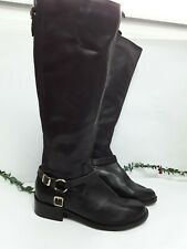 Ladies Long Boots New Look Low Block Heel Zip Ups Size 5