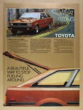 1980 Toyota Corolla SR5 Liftback vintage print Ad