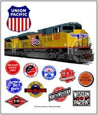 "UNION PACIFIC "" HERITAGE "" RAILROAD TIN SIGN  /Train Wall Art"