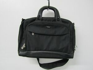Tumi Black Leather Accent Business Briefcase