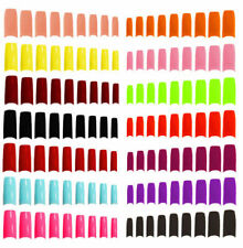 500 X  FALSE FAKE NAILS ACRYLIC NAIL TIPS MULTIPLE COLOURS AND SIZES CHEAPEST