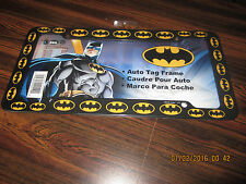 DC Comics Batman Logo All Over Black Plastic Car Auto License Plate Frame