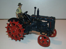 BRITAINS LEAD FARM No #127 F FORDSON MAJOR FARM TRACTOR 'SPUDDED WHEELS'