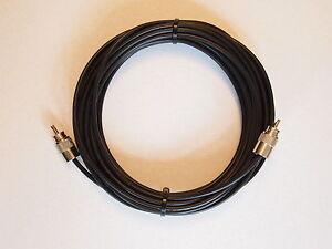 RG-58 Military Spec Coax cable 15 Metre Lead 2 x PL259 Male Connectors