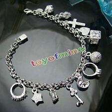 Miglior argento placcato Donne Moda 13 pendenti di fascino Bracciale