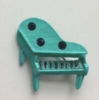 Vintage piano brooch enamel On metal