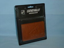 ARIZONA COYOTES   Leather TriFold Wallet    NIP  brown
