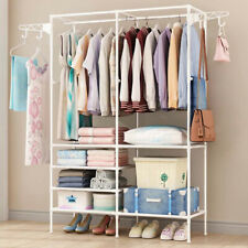 Heavy Duty Clothes Rail Rack Garment Hanging Display Stand Shoe Storage Shelfs