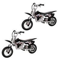 Razor MX400 Dirt Rocket Electric Toy Motocross Motorcycle Bike, Black (2 Pack)