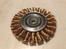 """WEILER 8271 Twist Wire Wheel Wire Brush 3"""" Diameter  0.20"""" Bronze Fill"""