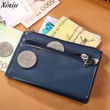 Men's Slim Wallet Leather Vintage Style ID Card Coin Money Mini Holder Clutch