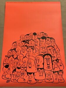 """Barry Mcgee Exhibition Poster Double-sided 24""""x36"""" Graffiti Rare ICA"""