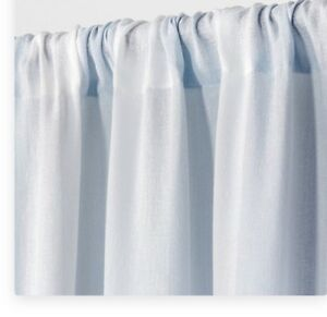 1 Simply Shabby Chic Blue Linen Stripe Curtain Panel Cotton New 84L