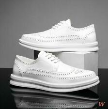 Mens Oxford Wing Tip Business Pointy Toe Brogue Dress Formal Shoes Platform 2021