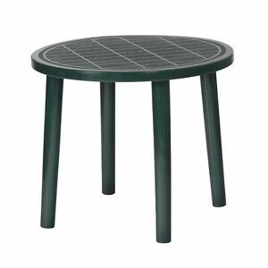 Round 4 Seater Plastic Garden Table Barbados Green 88.5 cm Diameter