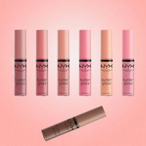 NYX Professional Makeup Butter Lip Gloss 8ml (Choose Shade or a 3x Bundle)