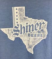 Tultex SHINER BEERS Texas Brewery Poly-Cotton T-Shirt - Size MEDIUM - Blue
