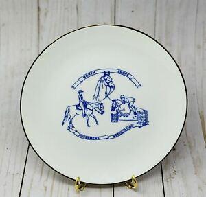 NORTH SHORE HOUSEMAN'S ASSOCIATION Gold Edge White & Blue Decorative Plate