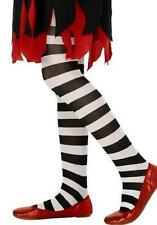 Childrens Fancy Dress Striped Tights Black/White Girls Tights by Smiffys New