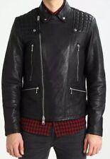 All Saints Rango Biker Lamb Leather Jacket Black Extra Small