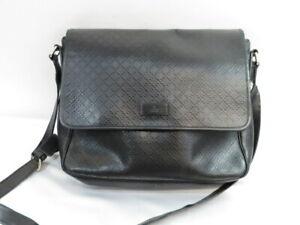 GUCCI Diamante Shoulder Bag Black Mens #223665 Pre-Owned