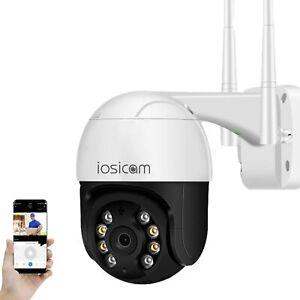 【Auto Tracking】IOSICAM Outdoor PTZ Dome WiFi IP Camera, 1080P Home Security Surv