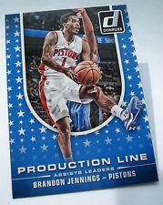 2014-15 PANINI Donruss NBA Brandon Jennings #7 production line assist leaders
