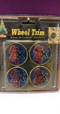 Vintage 4 x 4 Wheel Trim Adhesive Backed Wheelcover Emblem - NOS - Set of 4