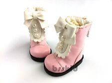 "BJD Yo-SD 1/6 Dollfie 13"" Effner 12"" Kish Doll Shoes PINK Boot Pearl Lolita"