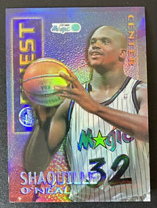 1995-96 Topps Finest Shaquille O'Neal Mystery Borderless Refractor #M22 Shaq