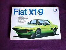ENTEX Fiat X1/9 Mid Engine 1/20 Scale #9028 Vintage Model Kit *Started, Complete