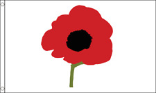 WORLD WAR 1 WW1 POPPY LEST WE FORGET 5ft x 3ft BRITISH FORCES FLAG