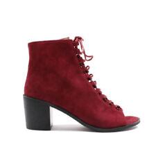 Botas de mujer botines sin marca color principal rojo