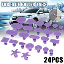 24pcs Glue Puller Tabs Pad For Car Body Paintless Dent Hail Repair Tools VQ ^ JM