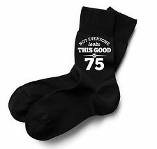 75th Birthday Gift Present Idea Boy Dad Him 1943 Men 75 Black Sock Accessories