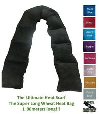 Sectioned Wheat Heat Bag ULTIMATE Heat Scarf Heat Pack Super Long Neck Warmer