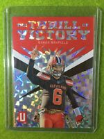 BAKER MAYFIELD PRIZM CARD JERSEY #6 REFRACTOR # /25 SSP BROWNS 2019 Unparalleled