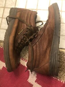 Mephisto Trampoline Made France Brown Leather Ankle Hiking Boots Men's Size 11