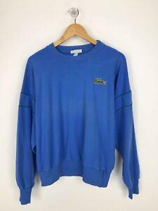 Vintage Rare LACOSTE Big Croc Sweatshirt | 90s Retro | Size 3 Small S Blue