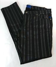 Rare Vintage Black Pin Stripe Skinny Jeans Tripp New York NYC Goth Punk Pants 38