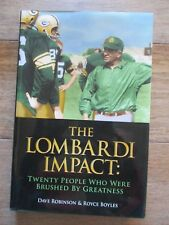 signed DAVE ROBINSON The Lombardi Impact book GREEN BAY PACKERS Royce Brooks HC