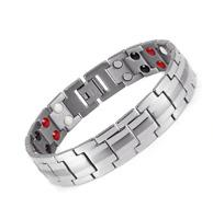 Healing FIR Magnetic Titanium Bio Energy Bracelet For Men Blood Pressure