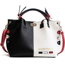 Fashion Women Handbags PU Leather Tote Bags Shoulder Top Handle Ladies Casual