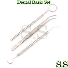 3PCS Dentist Dental Mouth Mirror and Scaler Hygiene Examination Tools PR-0063