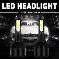 2X H7 200W 20000LM LED Headlight Conversion Kit Beam Light Bulbs 6000K White KFP