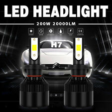 2X H7 200W 20000LM LED Headlight Conversion Kit Beam Light Bulbs 6000K White EFP