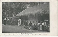 1912 Postcard  Wayside Shrine Church of England Zenana Missionary Society Ceylon