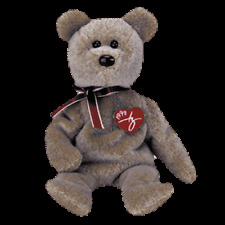 """TY BEANIE BABIES  """"1999 SIGNATURE BEAR RETIRED""""    MINT WITH MINT TAG"""