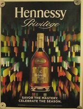 New Lot of 2 Store Display Paper Posters HENNESSY Privilege Celebrate The Season